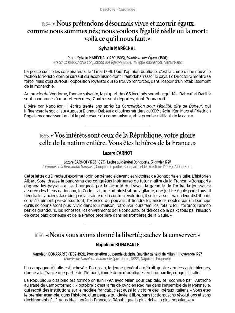 L'Histoire en citations - volume 6 - 14/20