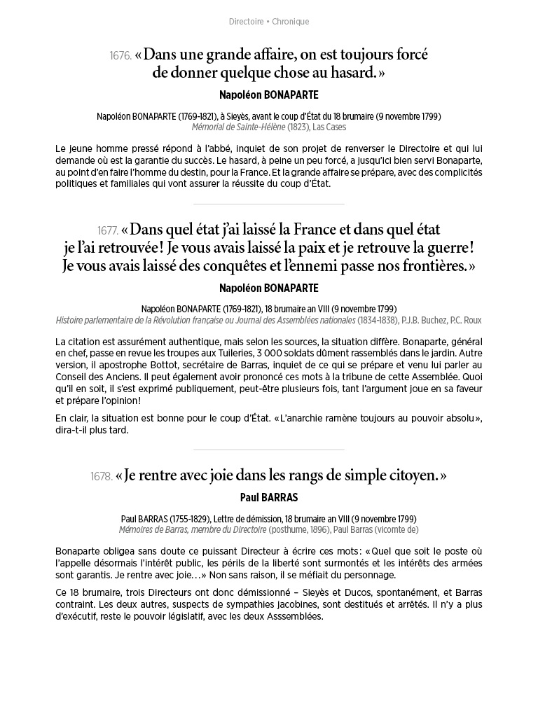 L'Histoire en citations - volume 6 - 18/20