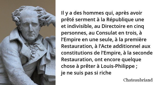 chateaubriand citation constitution