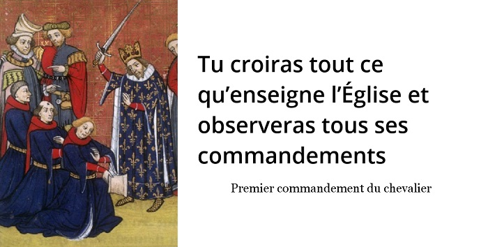 commandements chevalier moyen age