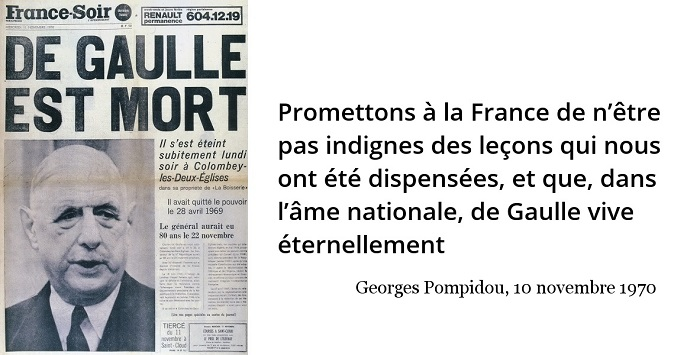 Georges Pompidou citation De Gaulle