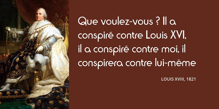 Louis XVIII citation