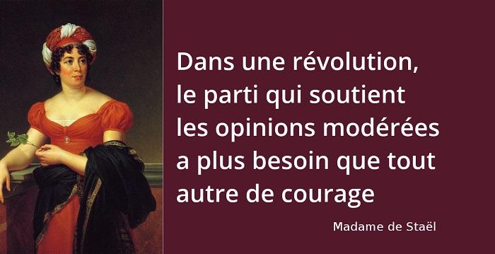 Madame de Staël citation revolution