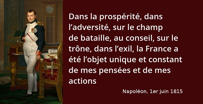 Napoléon citation France