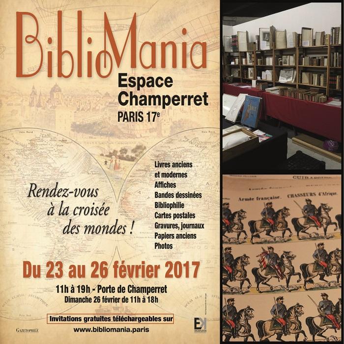 Coup de c ur le salon bibliomania vieux papiers l for Porte de champerret salon histoire