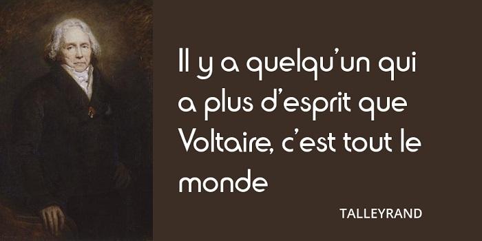 Citation Talleyrand Voltaire