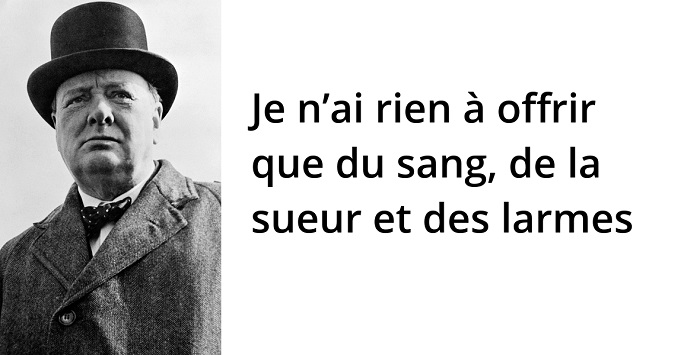 Winston Churchill citation guerre