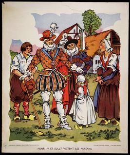 Henri IV Je veux qu'il n'y ait si pauvre paysan en mon royaume qu'il n'ait tous les dimanches sa poule au pot