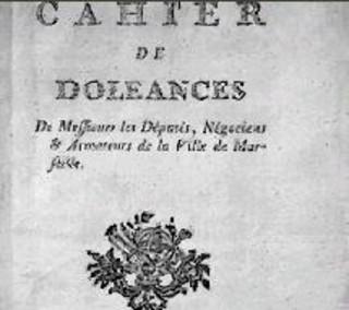Cahier de doléances de la ville de Marseille