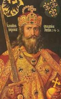 Charlemagne :  « Charles […]sommet de l'Europe […] est en train de tracer les murs de la Rome nouvelle. »