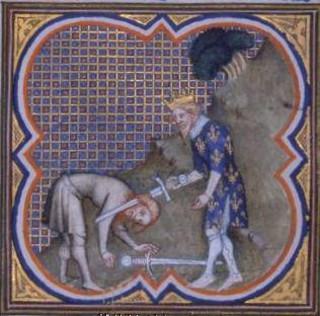 Michelet : « Clovis fit périr tous les petits rois des Francs par une suite de perfidies. »