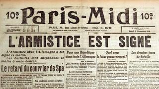 Giraudoux : « L'armistice vient d'être signé par Lloyd George qui ressemble à un caniche... »